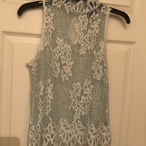 Top shop sleeveless lace top